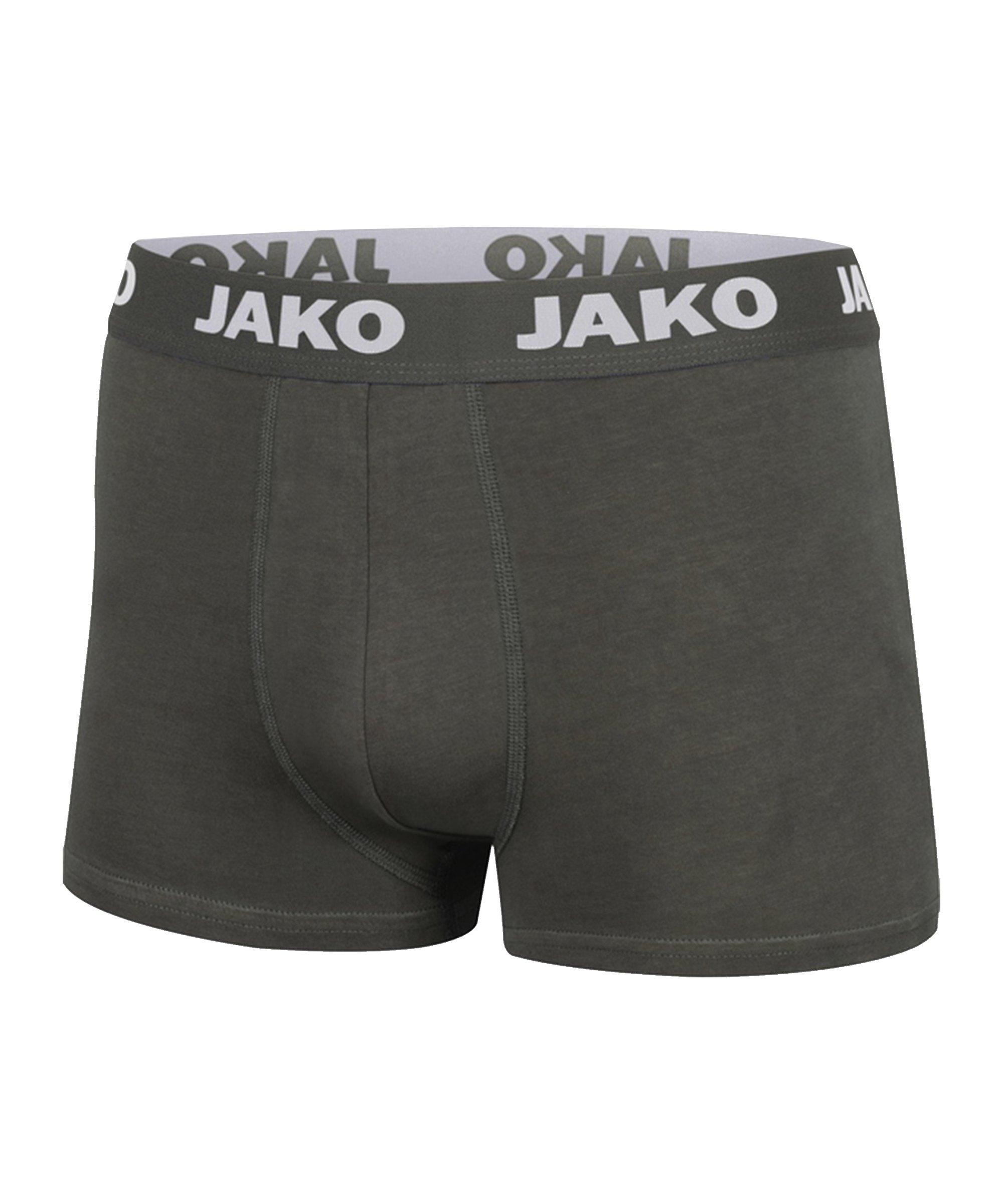 Jako Boxershorts Basic 2er Pack Grau F21 - grau