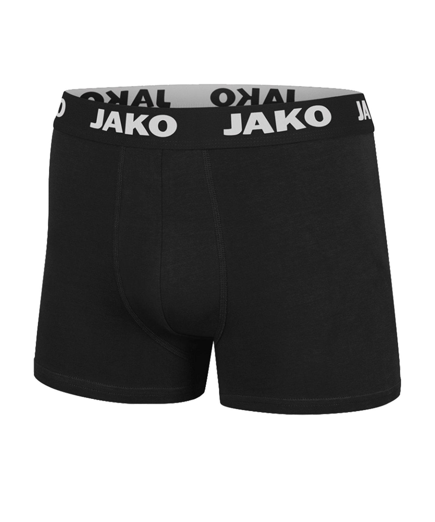 Jako Boxershorts Basic 2er Pack Schwarz F08 - schwarz