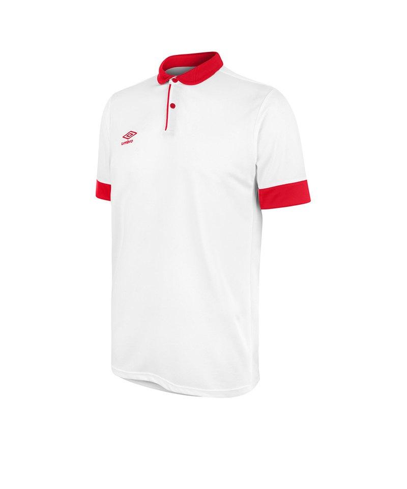 Umbro Trophy Jersey Trikot kurzarm Weiss Rot FA61 - weiss