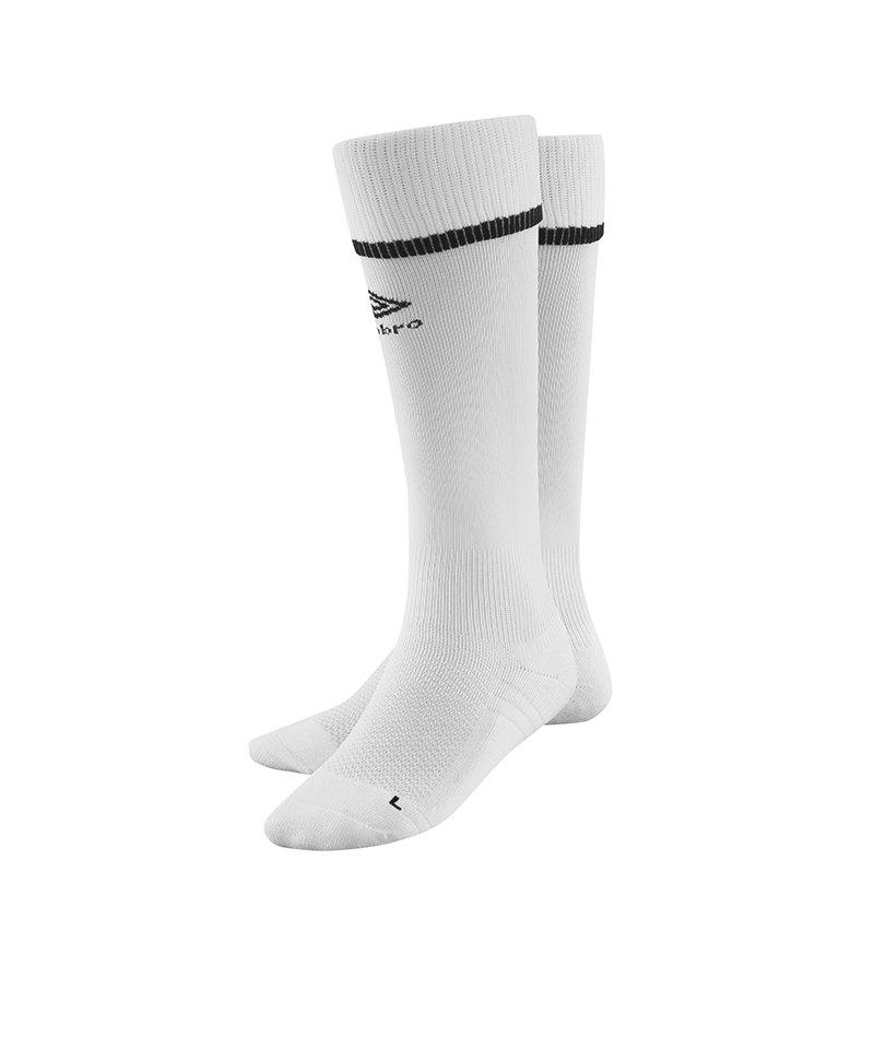 Umbro Tipped Socks Stutzen Weiss Schwarz F096 - weiss