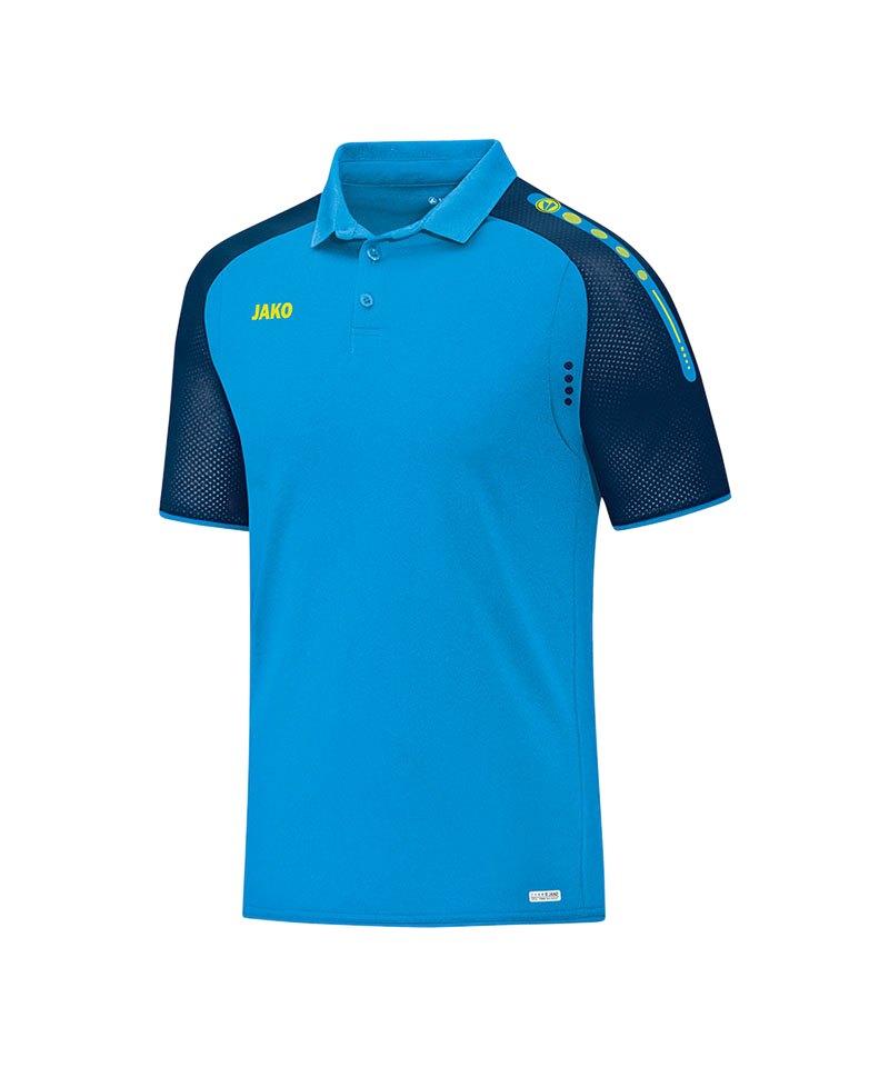 Jako Poloshirt Champ Blau Gelb F89 - blau