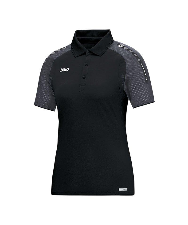 Jako Poloshirt Champ Damen Schwarz Grau F21 - schwarz