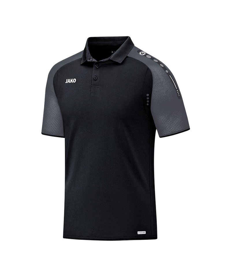 Jako Poloshirt Champ Schwarz Grau F21 - schwarz