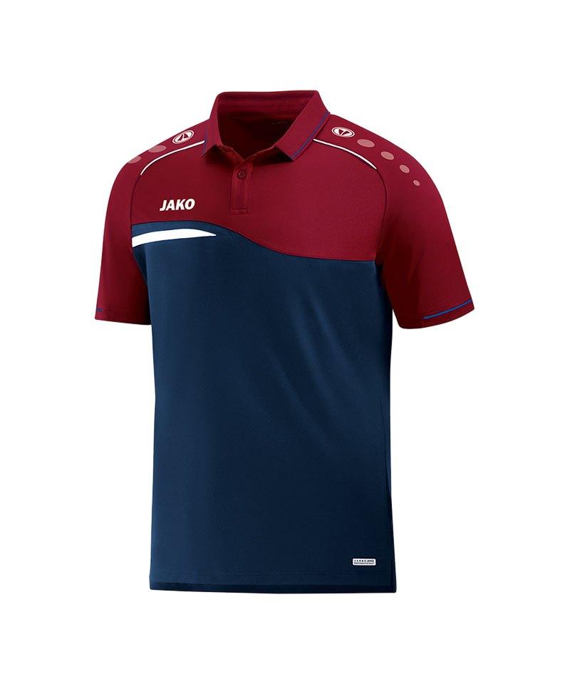 Jako Competition 2.0 Poloshirt Blau Rot F09 - blau