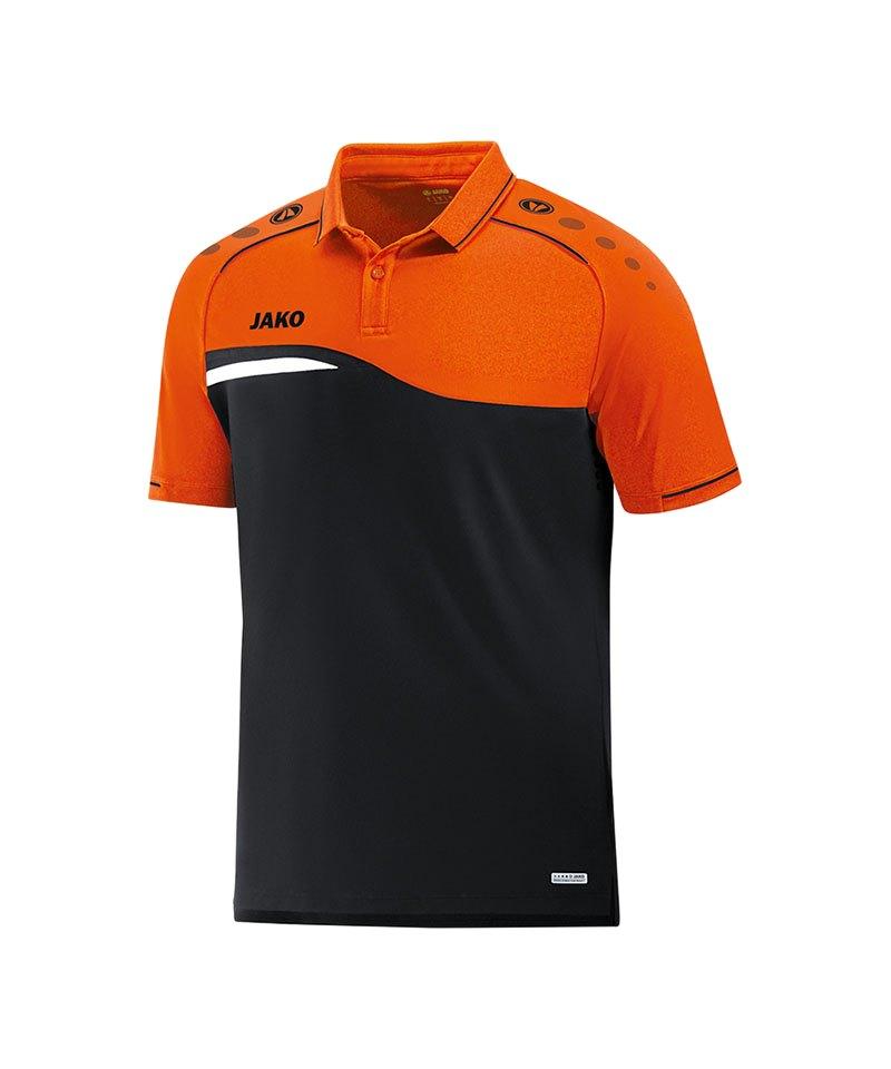 Jako Competition 2.0 Poloshirt Kids Schwarz F19 - schwarz
