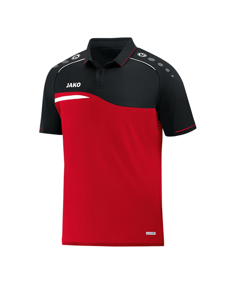 Jako Competition 2.0 Poloshirt Rot Schwarz F01 - rot