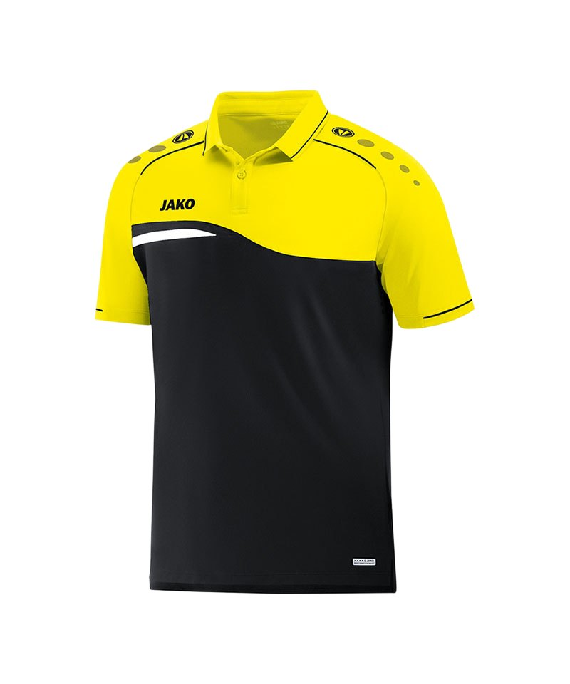 Jako Competition 2.0 Poloshirt Schwarz Gelb F03 - schwarz