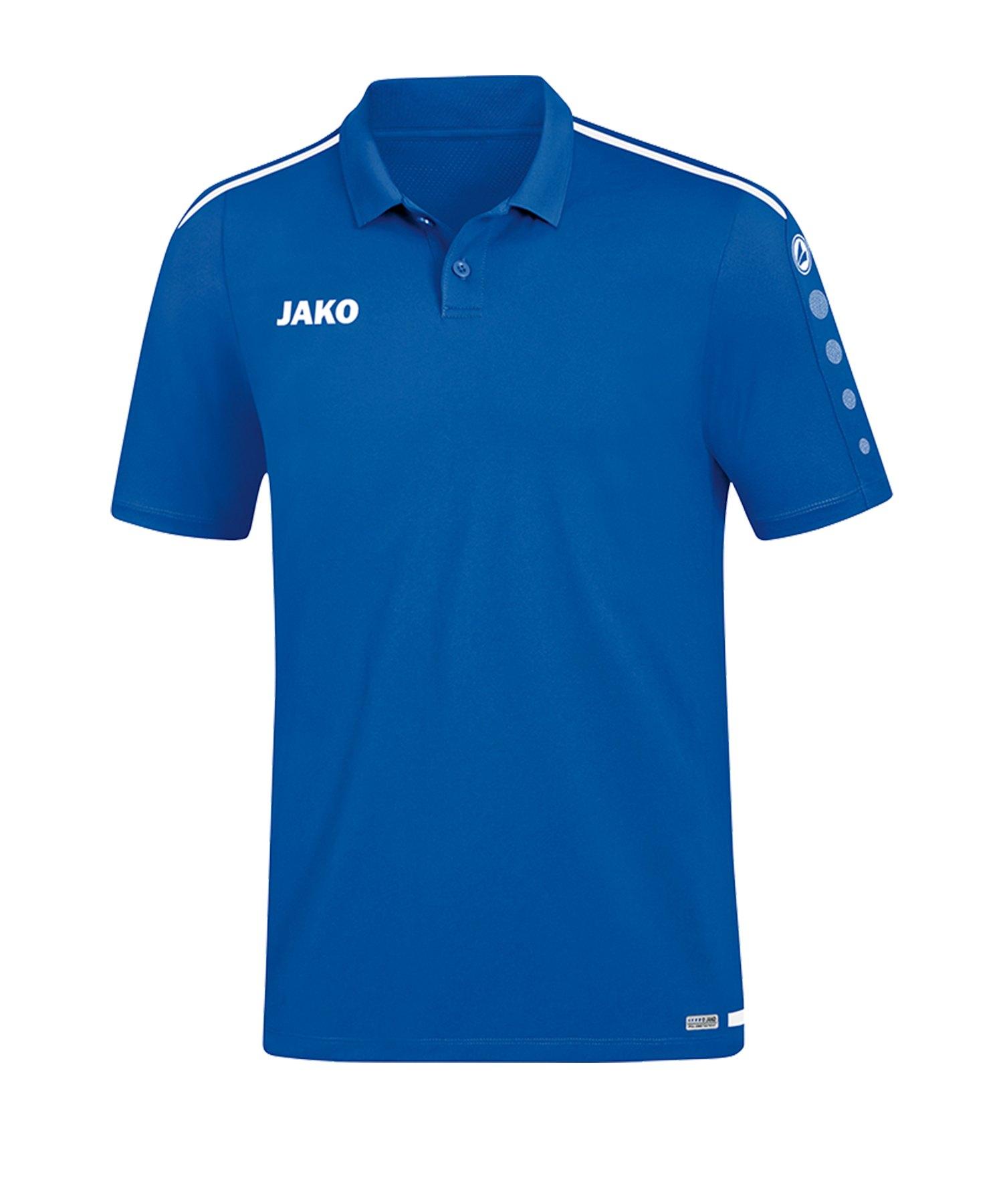 Jako Striker 2.0 Poloshirt Blau Weiss F04 - Blau