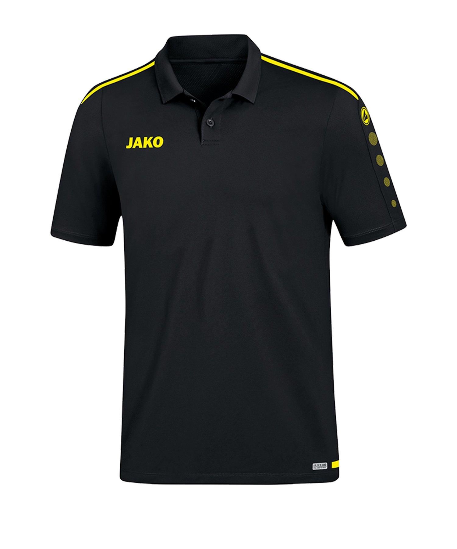 Jako Striker 2.0 Poloshirt Schwarz Gelb F33 - Schwarz