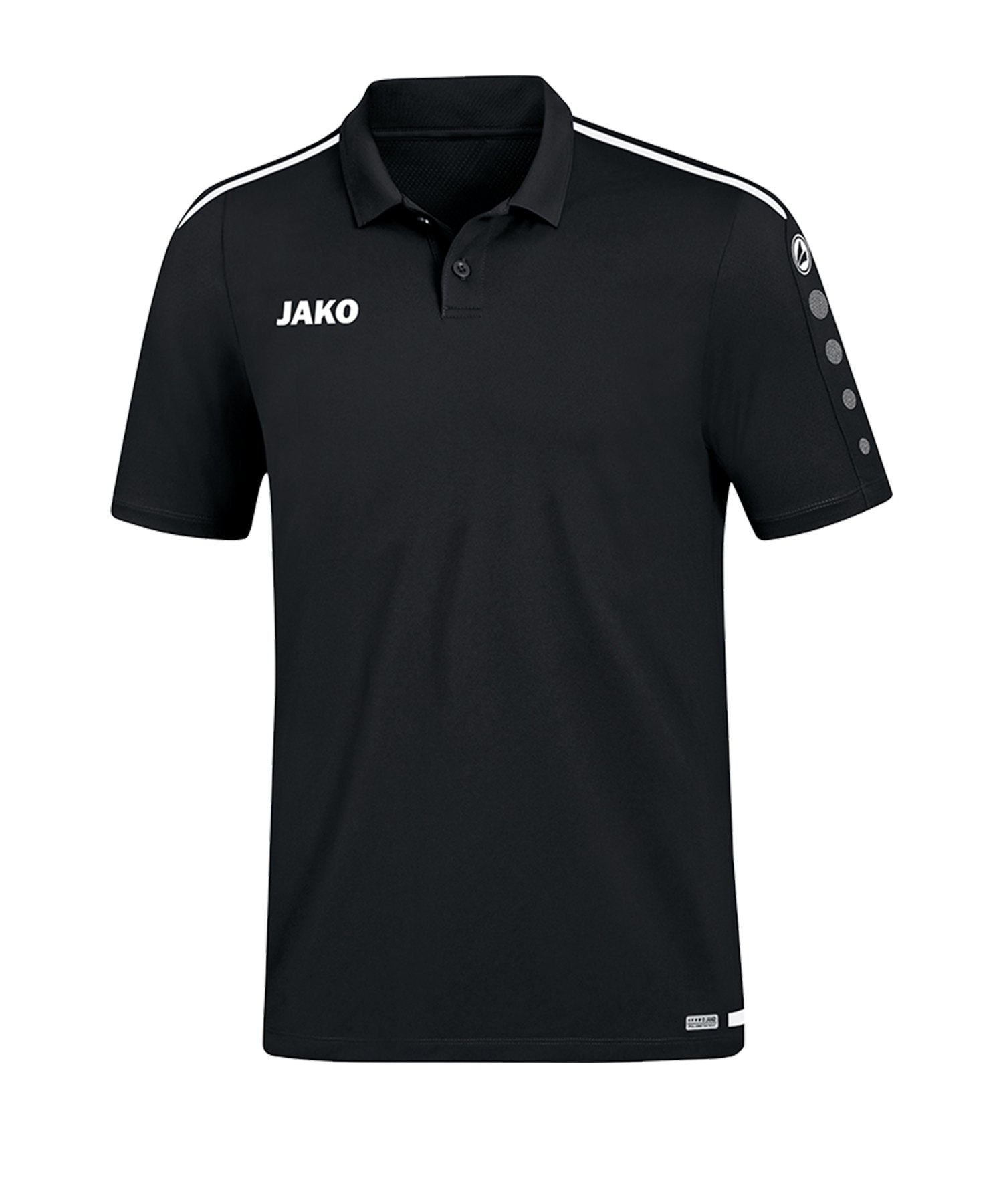 Jako Striker 2.0 Poloshirt Schwarz Weiss F08 - Schwarz