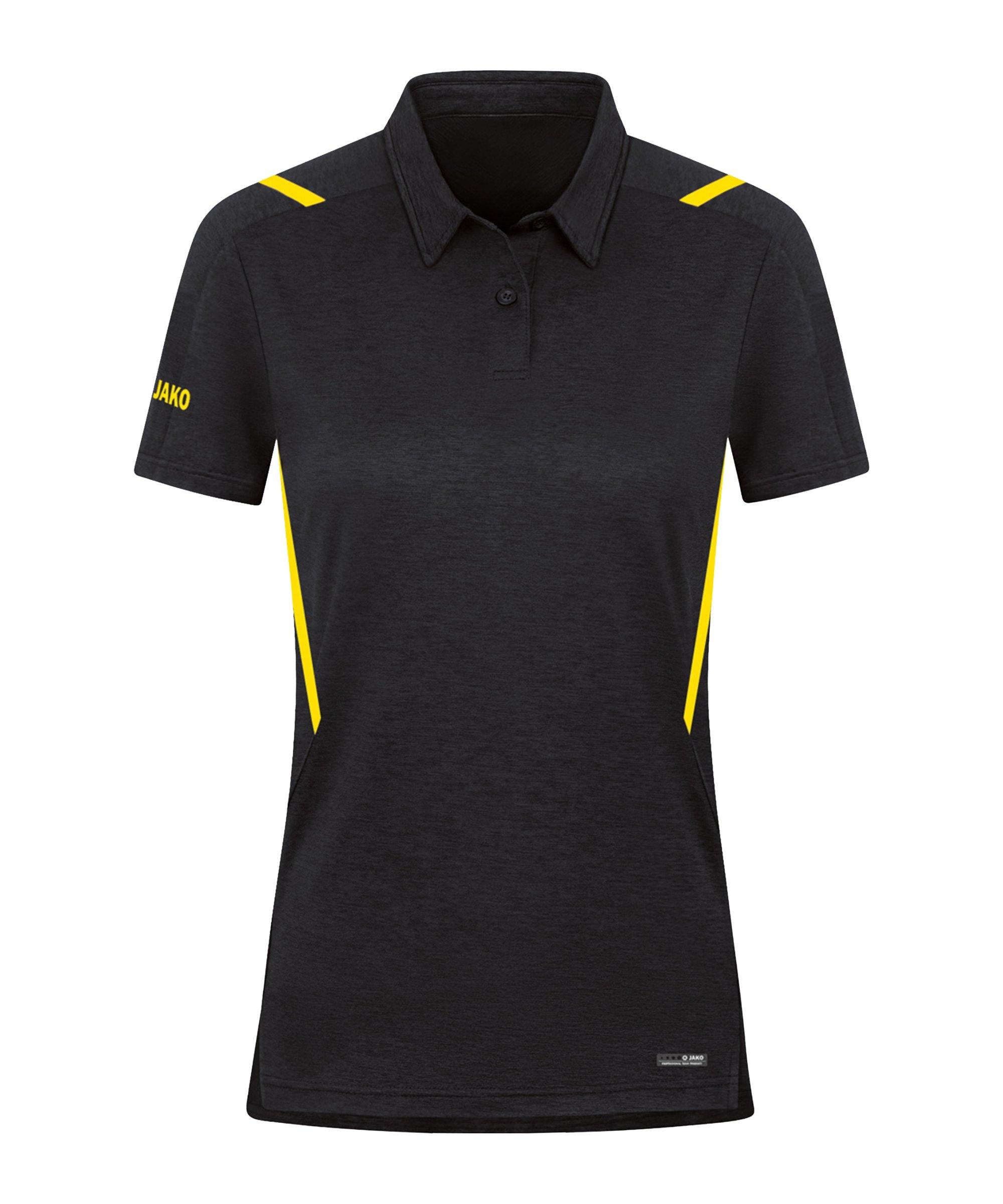 JAKO Challenge Polo Damen Gelb F505 - schwarz