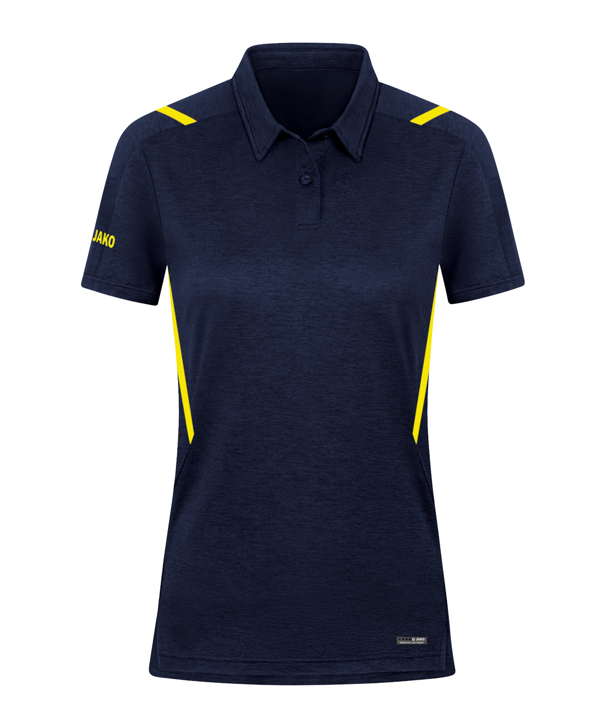 JAKO Challenge Polo Damen Gelb F512 - blau