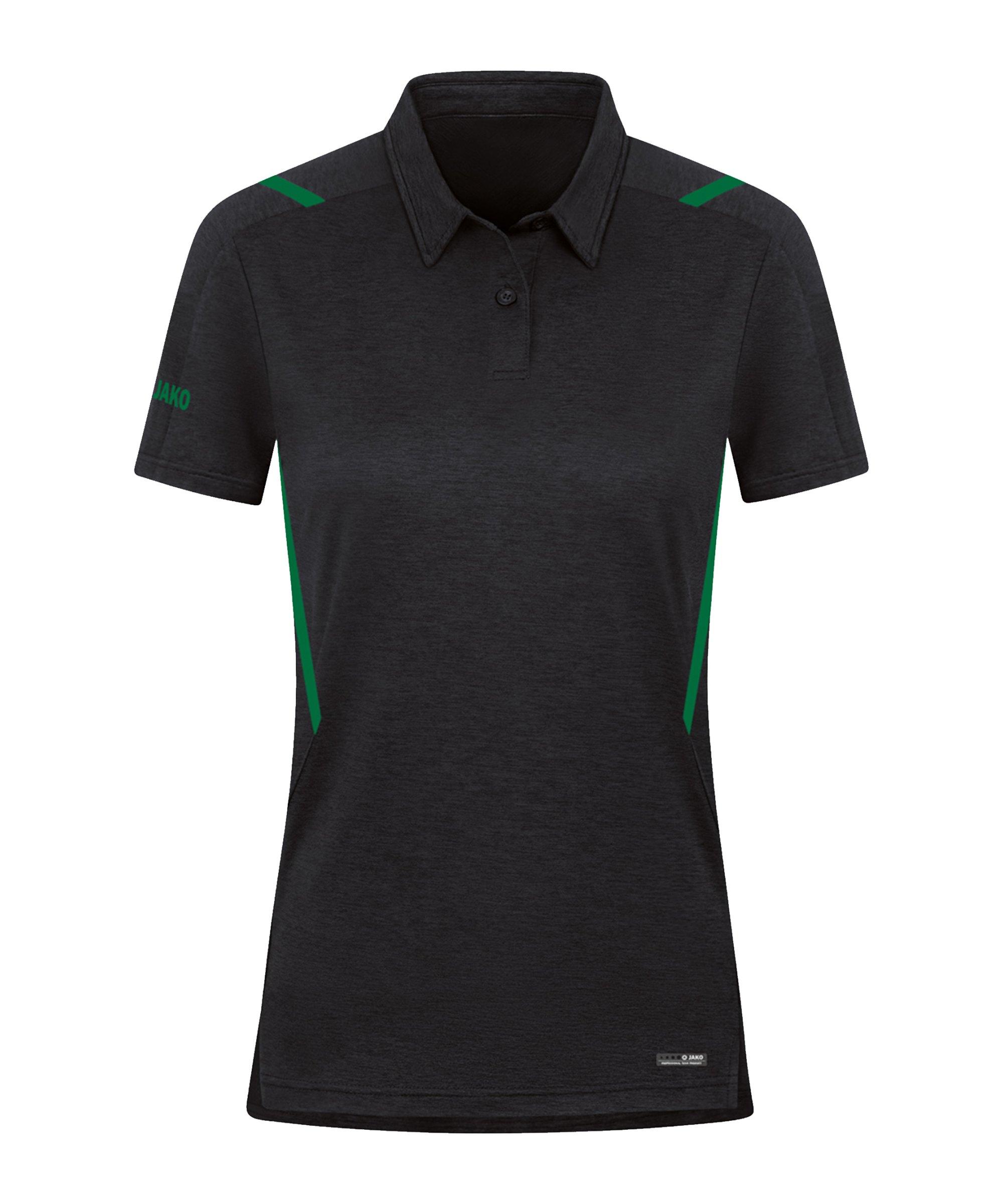 JAKO Challenge Polo Damen Grün F503 - schwarz