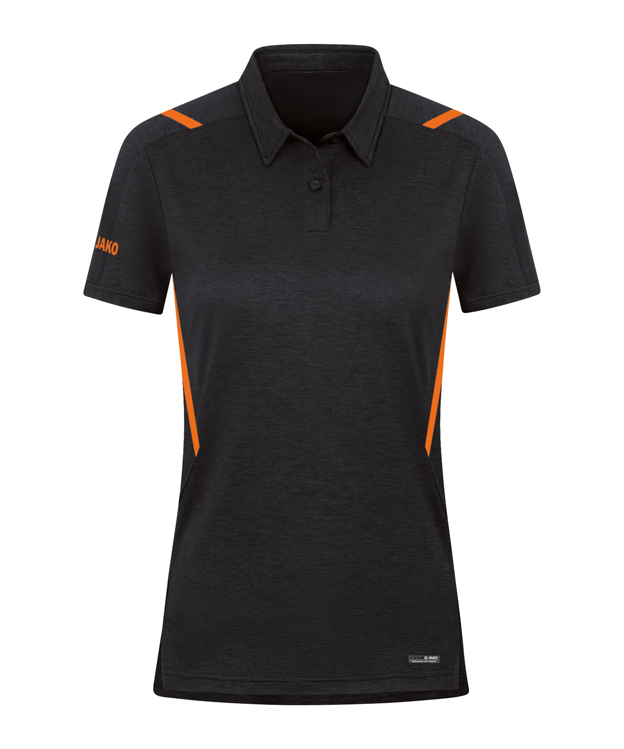 JAKO Challenge Polo Damen Orange F506 - schwarz