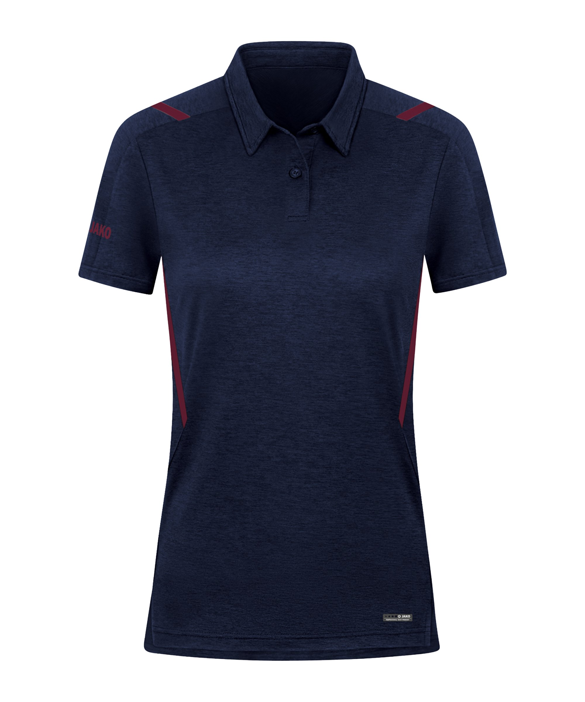 JAKO Challenge Polo Damen Rot F513 - blau
