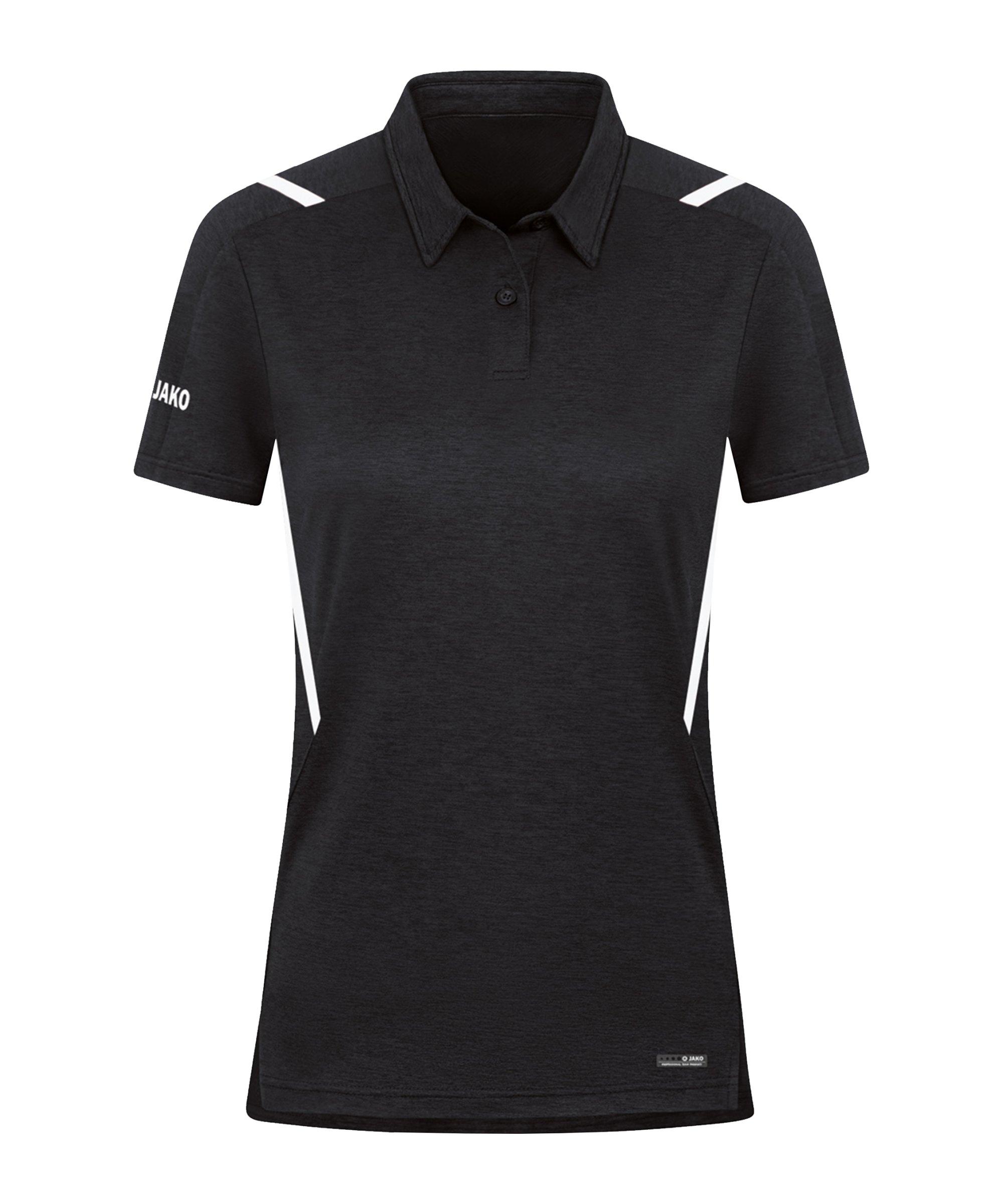 JAKO Challenge Polo Damen Schwarz F501 - schwarz