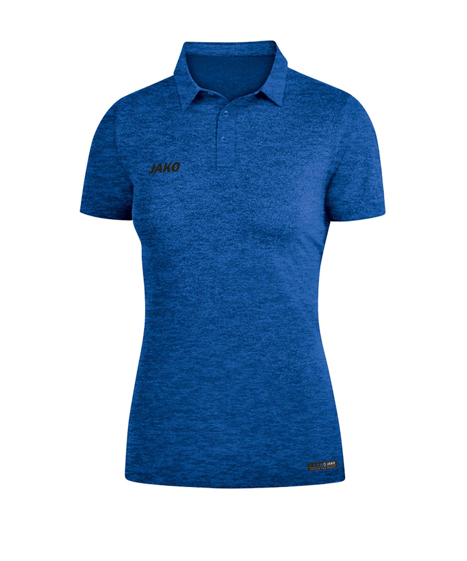 Jako Premium Basics Poloshirt Damen Blau F04 - Blau
