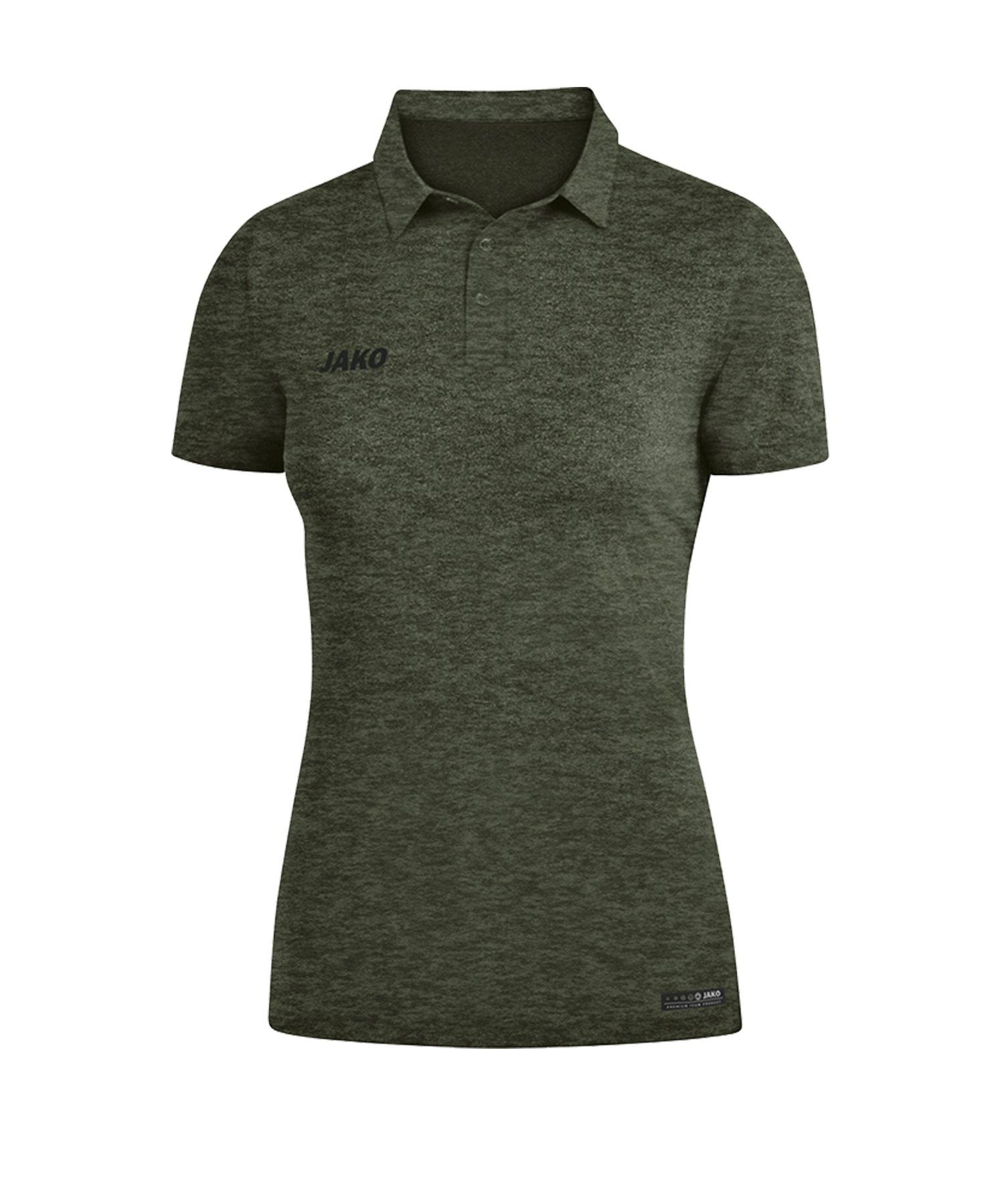 Jako Premium Basics Poloshirt Damen Khaki F28 - Khaki