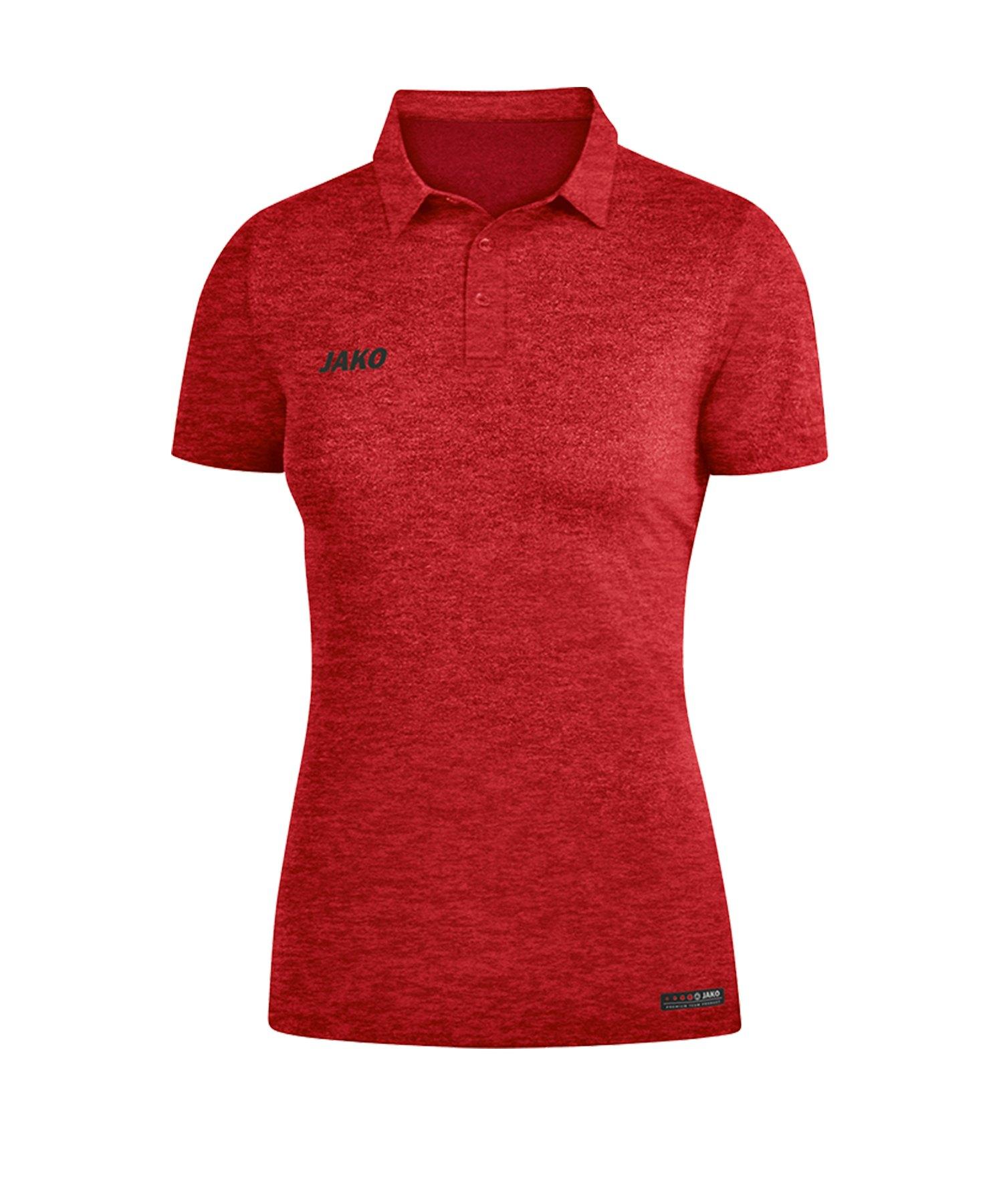 Jako Premium Basics Poloshirt Damen Rot F01 - Rot