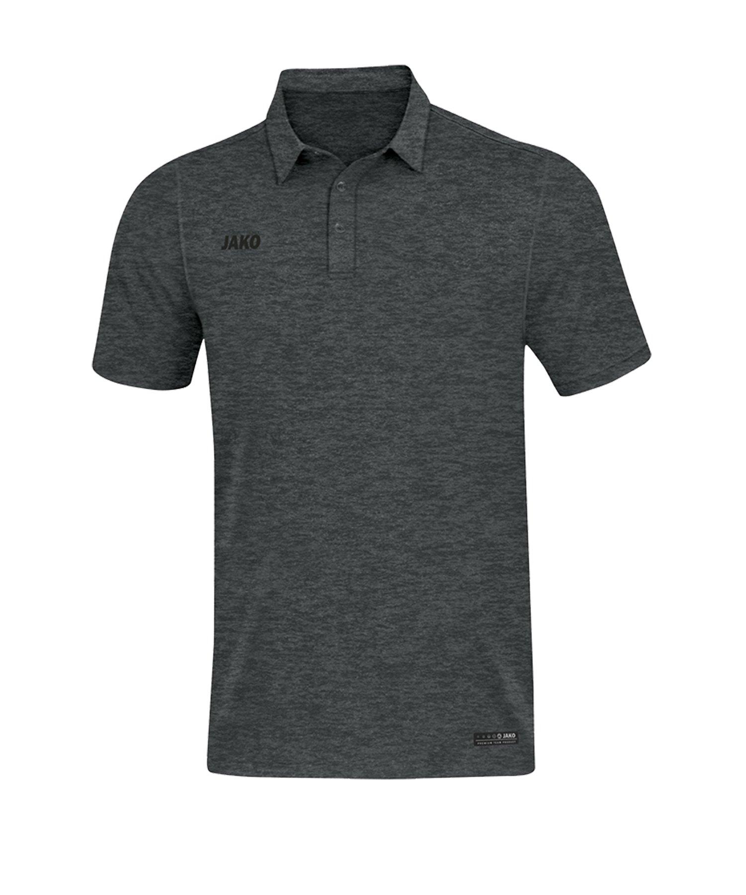 Jako Premium Basics Poloshirt Grau F21 - Grau