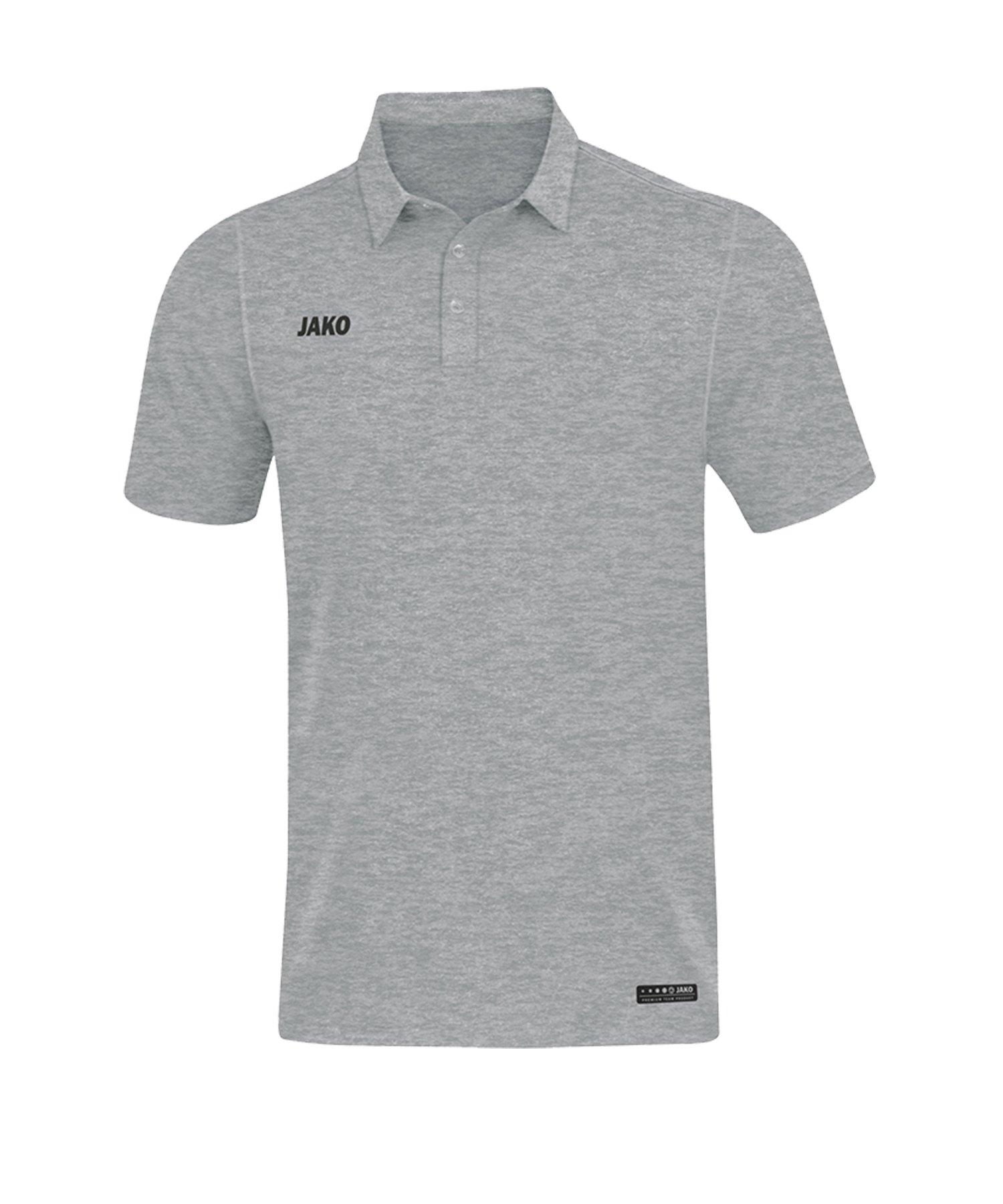 Jako Premium Basics Poloshirt Grau F40 - Grau