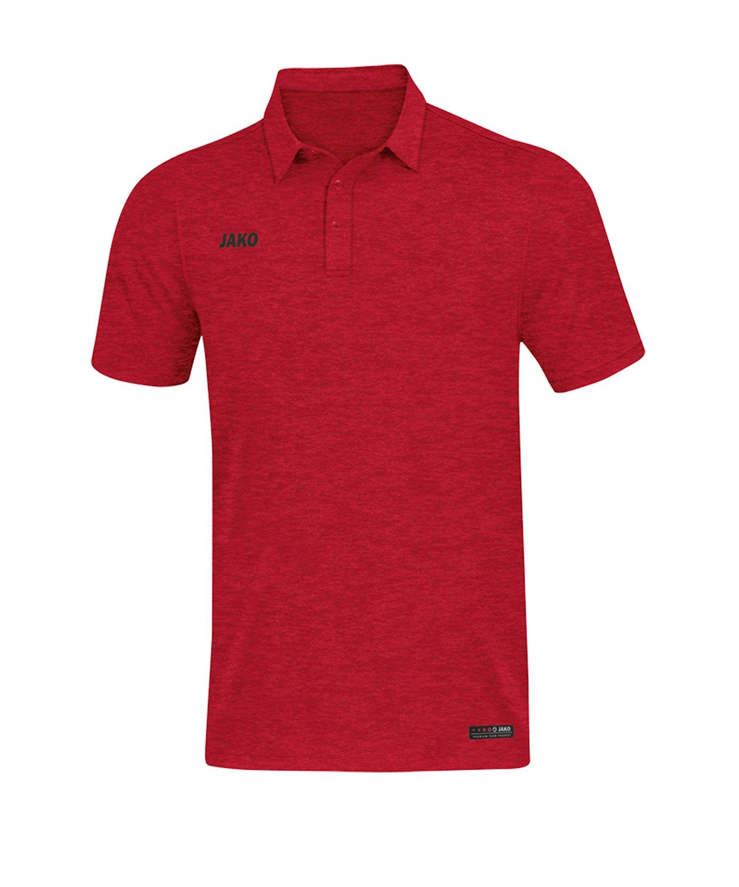 Jako Premium Basics Poloshirt Rot F01 - Rot