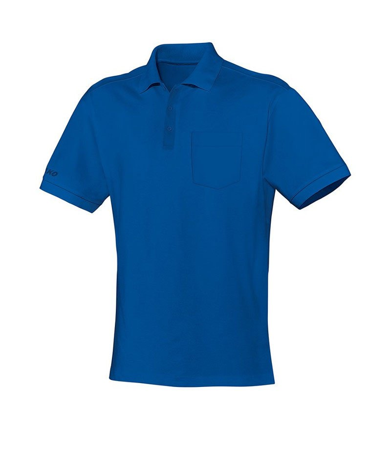 Jako Team Polo mit Brusttasche Blau F04 - blau