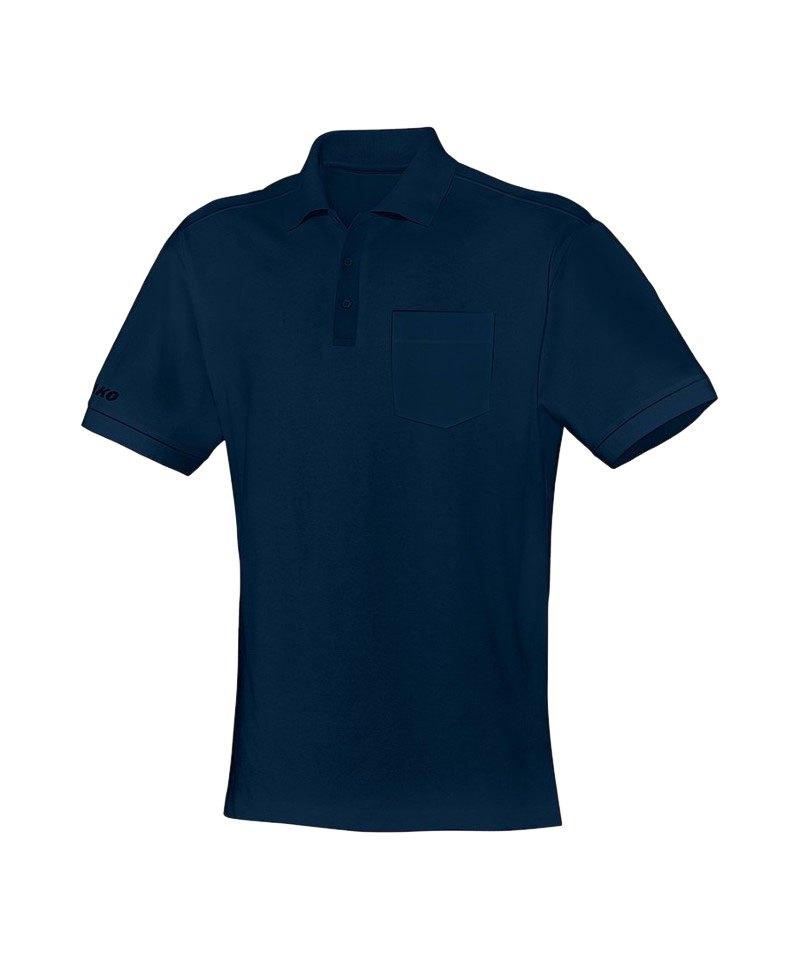 Jako Team Polo mit Brusttasche Blau F09 - blau