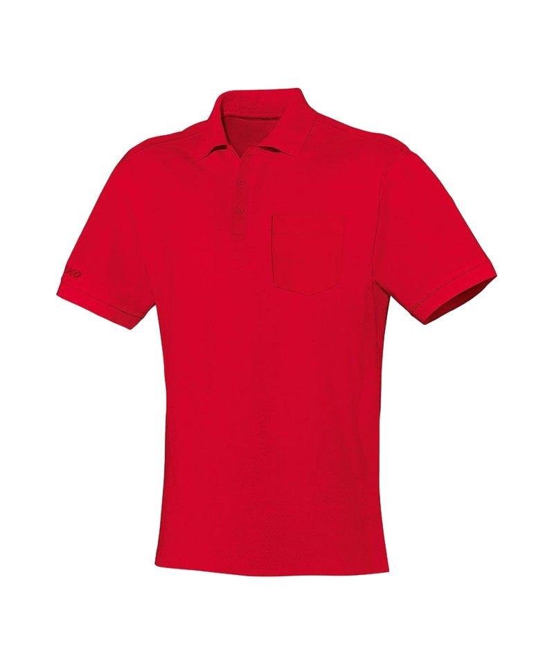 Jako Team Polo mit Brusttasche Rot F01 - rot