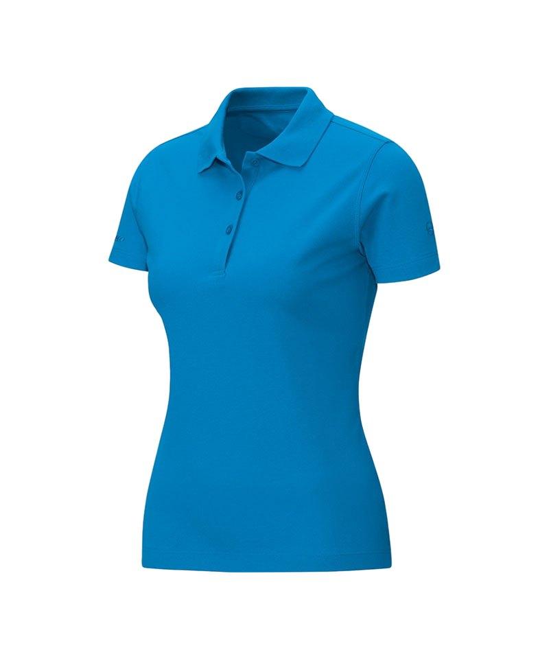 Jako Poloshirt Classic Damen Blau F89 - blau