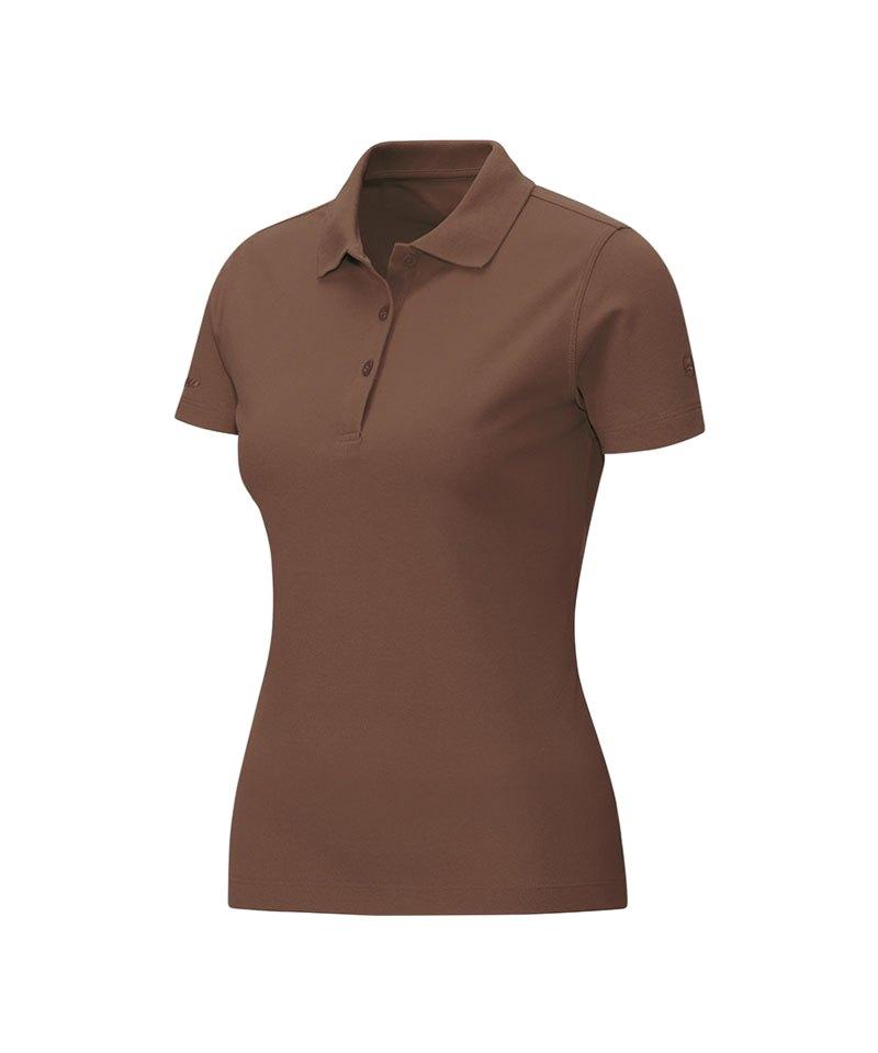 Jako Poloshirt Classic Damen Braun F37 - braun