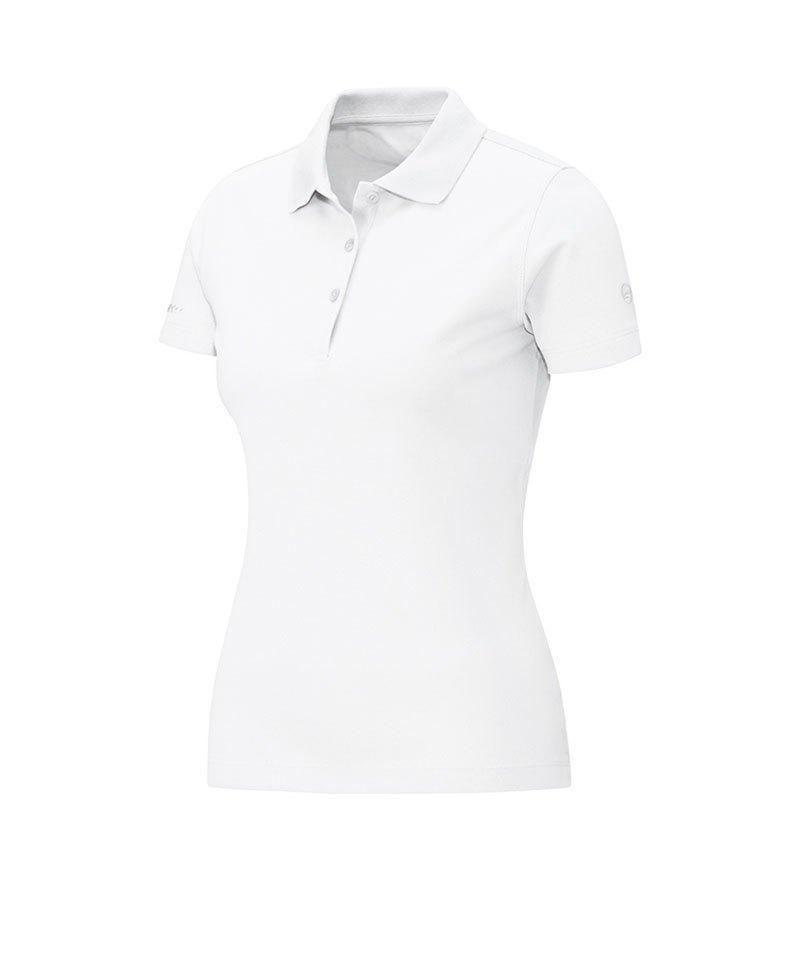 Jako Poloshirt Classic Damen Weiss F00 - weiss