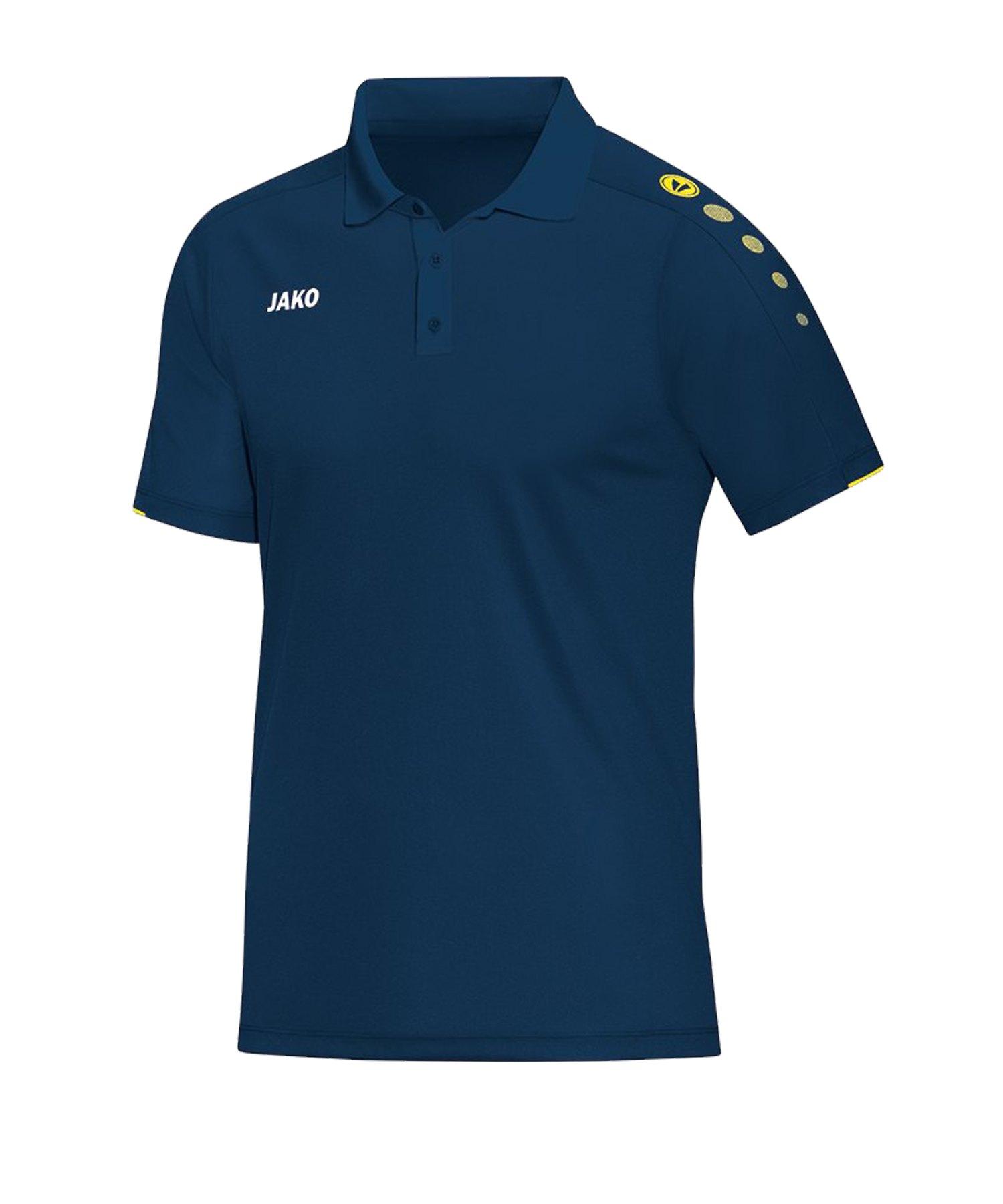 Jako Classico Poloshirt Blau Gelb F42 - Blau
