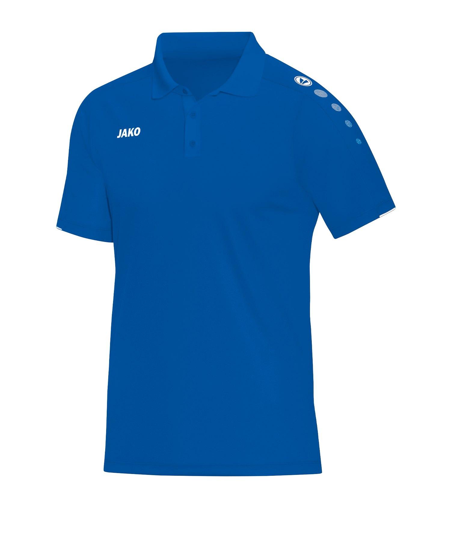 Jako Classico Poloshirt Damen Blau F04 - Blau