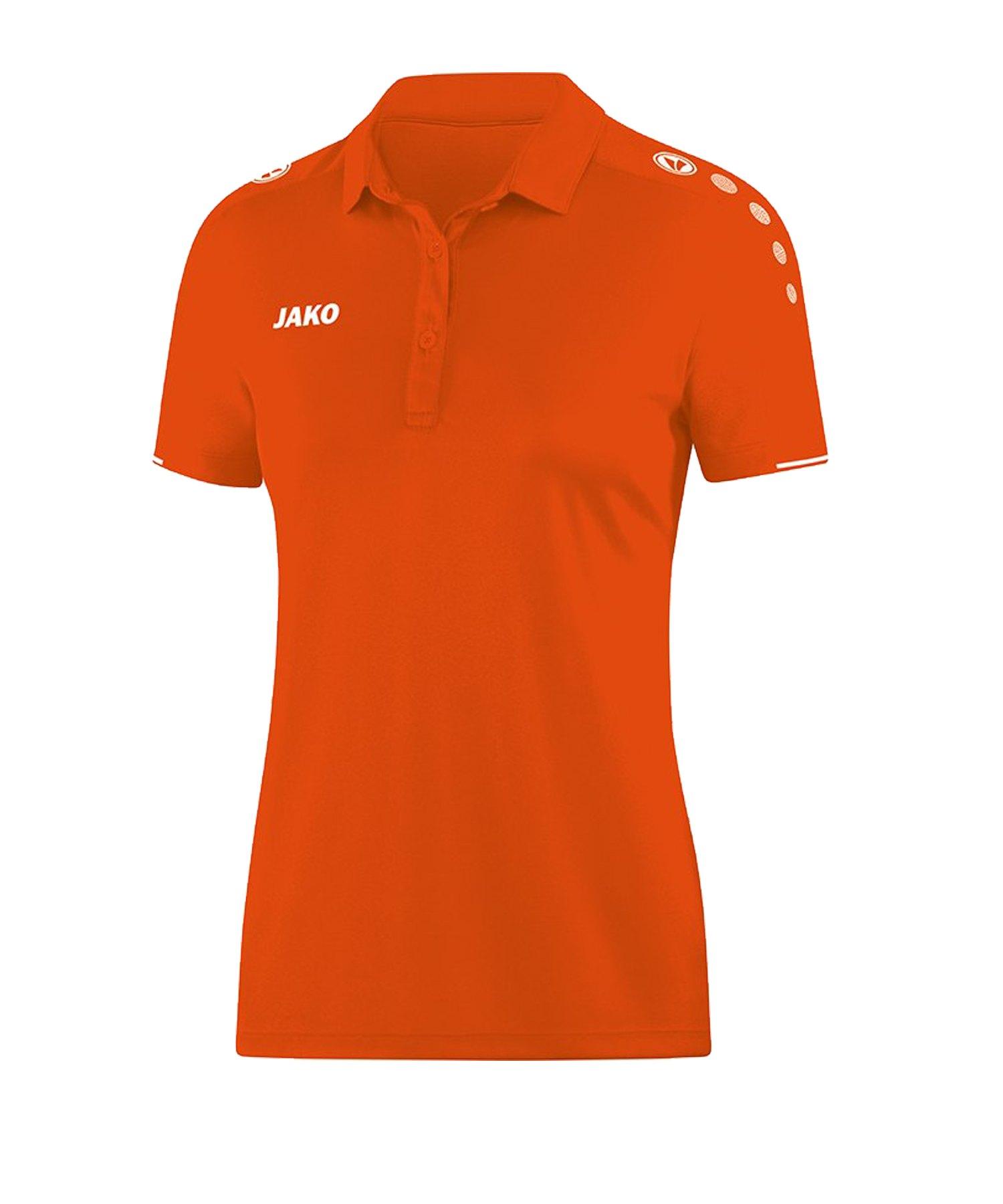 Jako Classico Poloshirt Damen Orange F19 - Orange