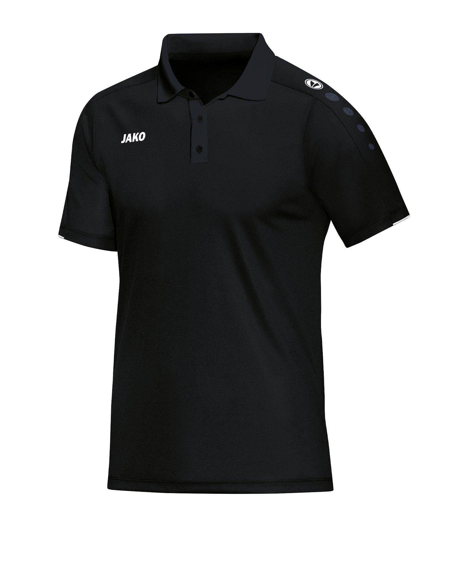 Jako Classico Poloshirt Damen Schwarz F08 - Schwarz