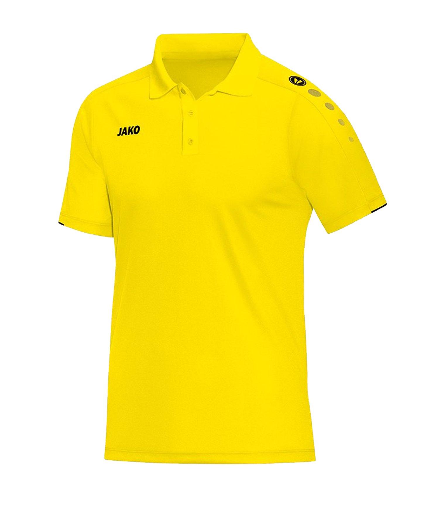 Jako Classico Poloshirt Gelb F03 - Gelb