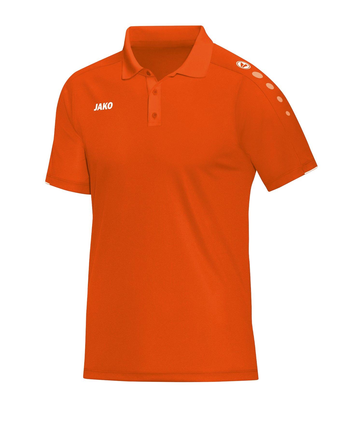 Jako Classico Poloshirt Orange F19 - Orange