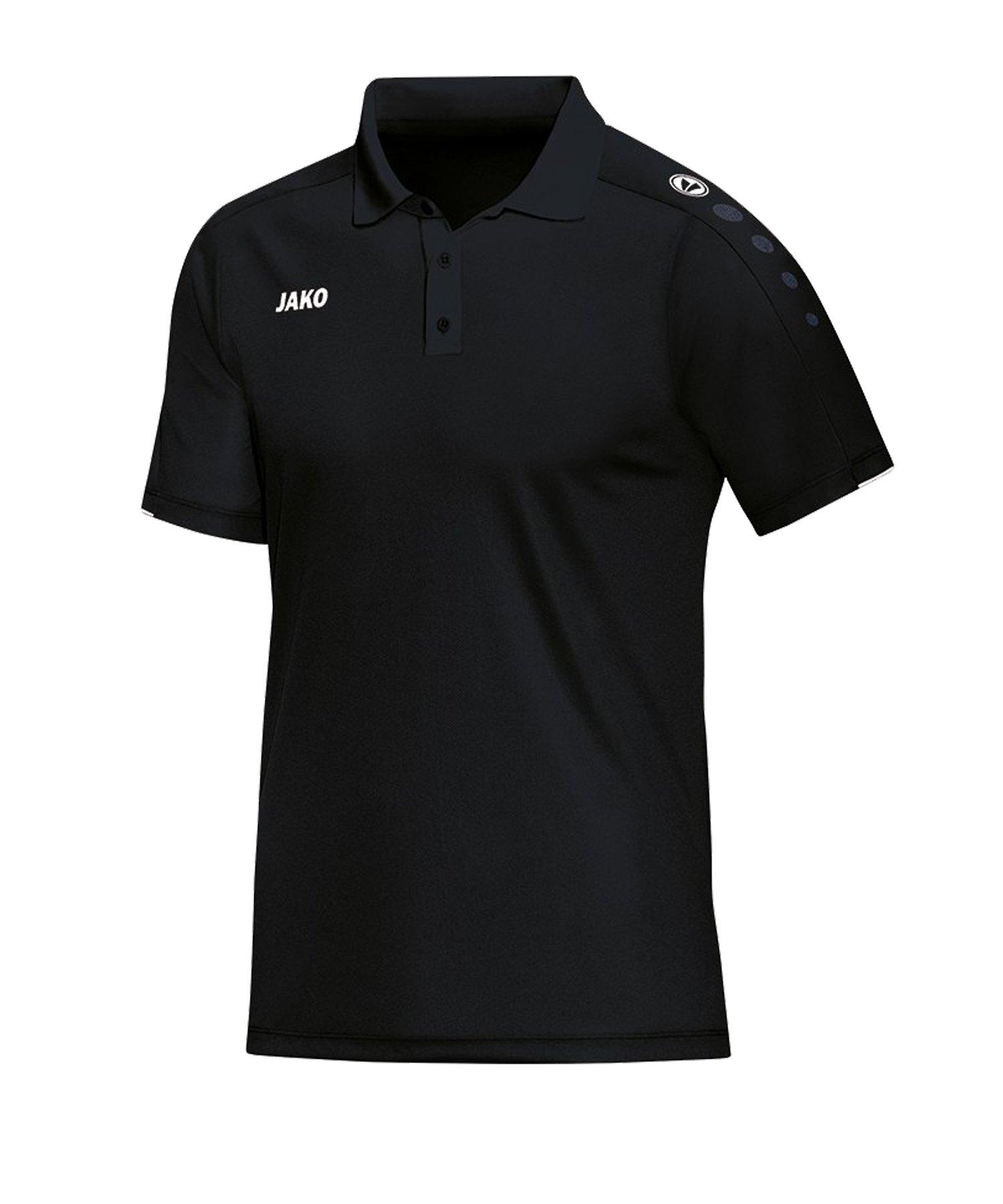 Jako Classico Poloshirt Schwarz F08 - Schwarz