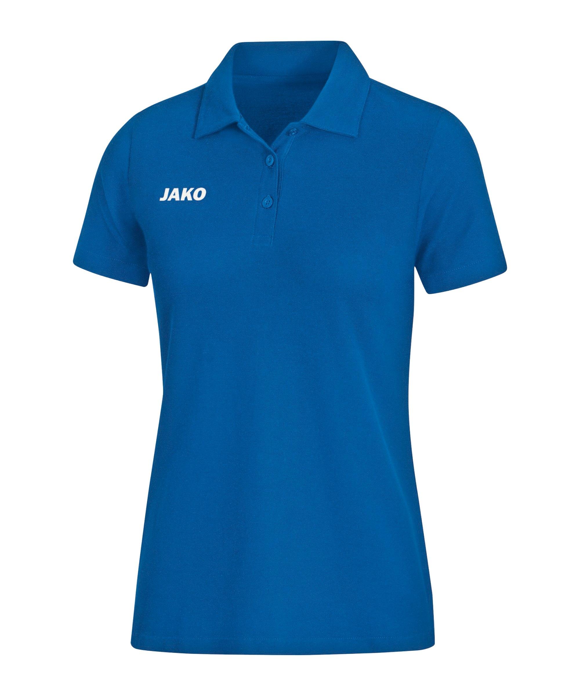 JAKO Base Poloshirt Damen Blau F04 - blau