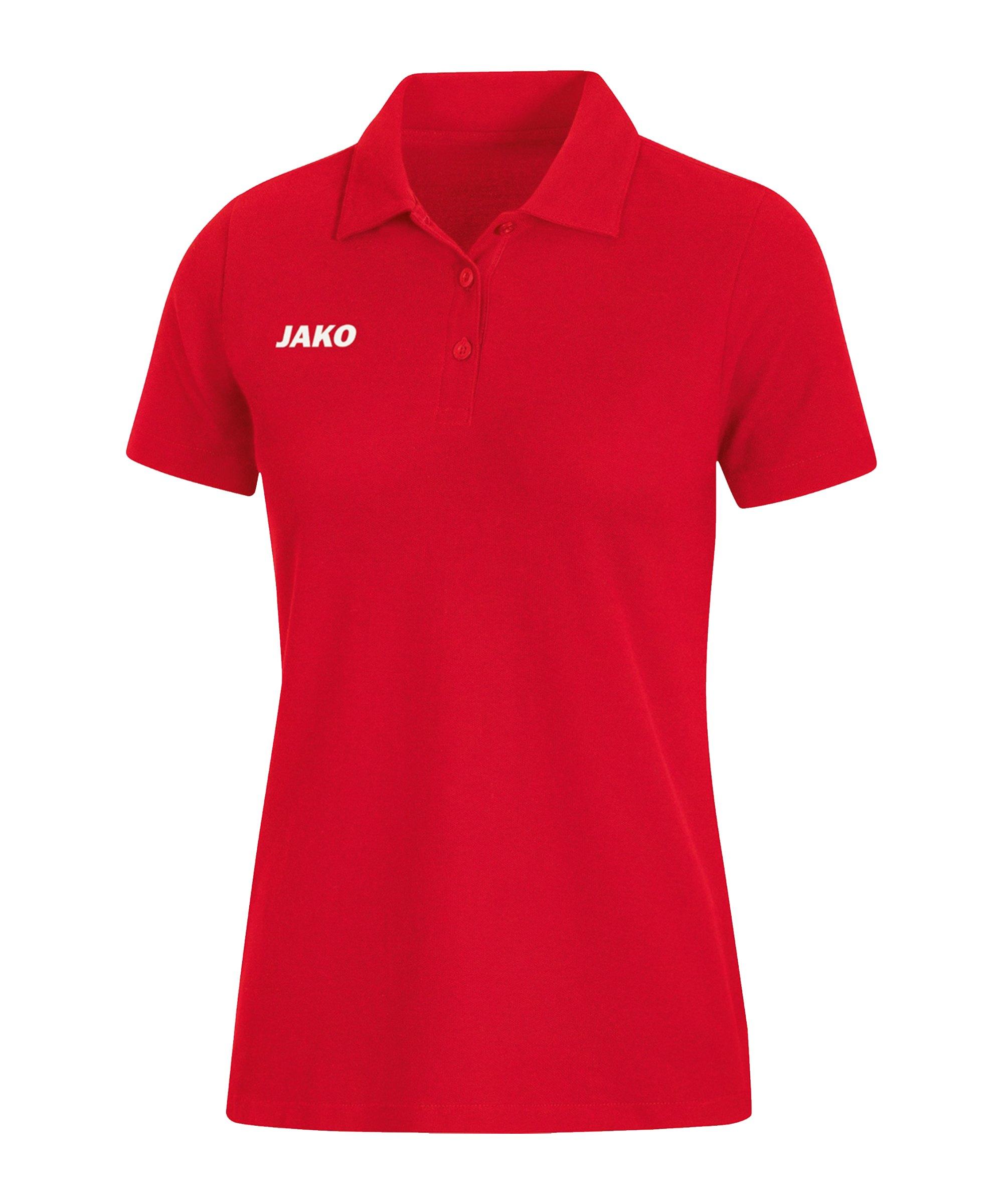 JAKO Base Poloshirt Damen Rot F01 - rot
