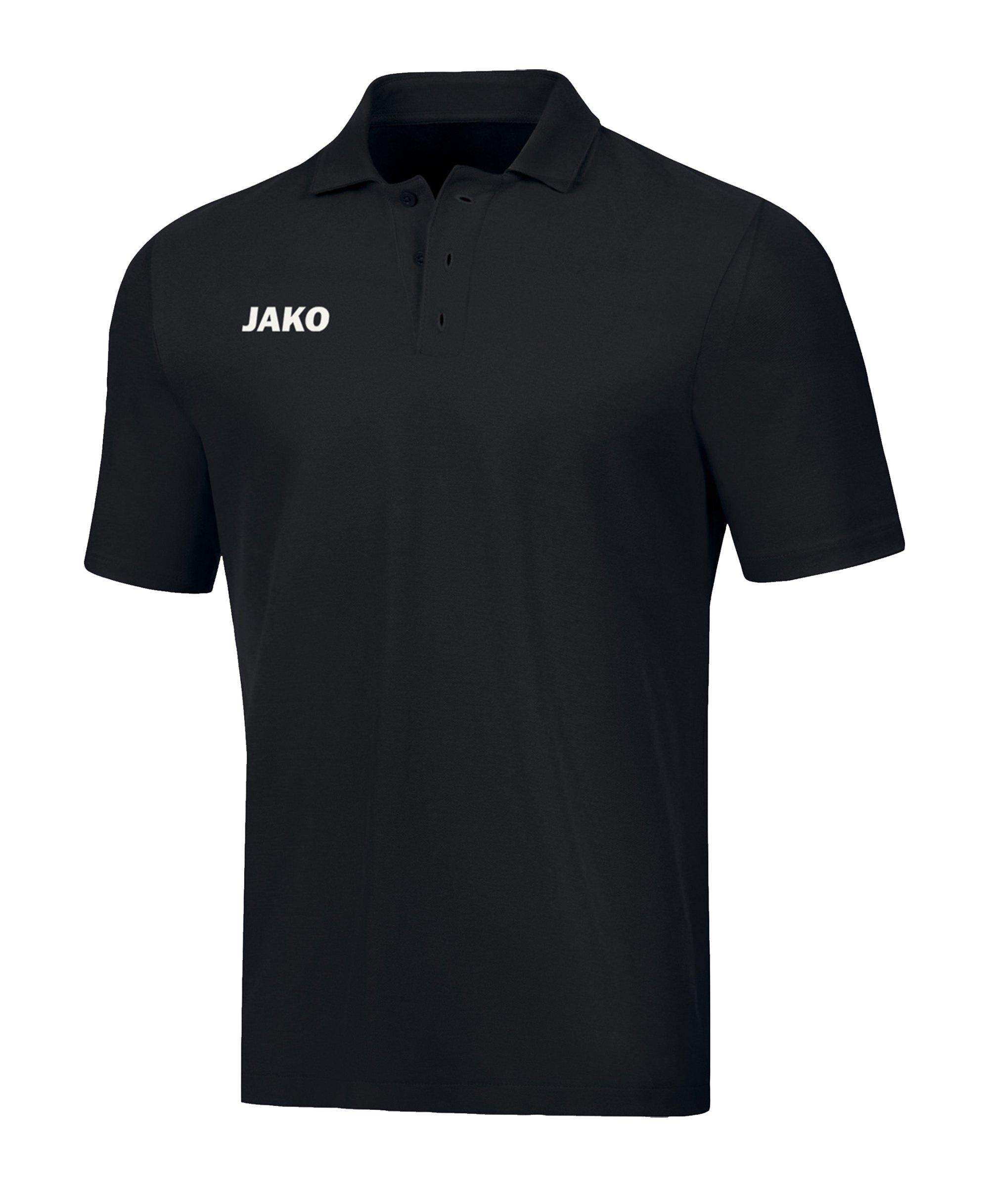 JAKO Base Poloshirt Kids Schwarz F08 - schwarz