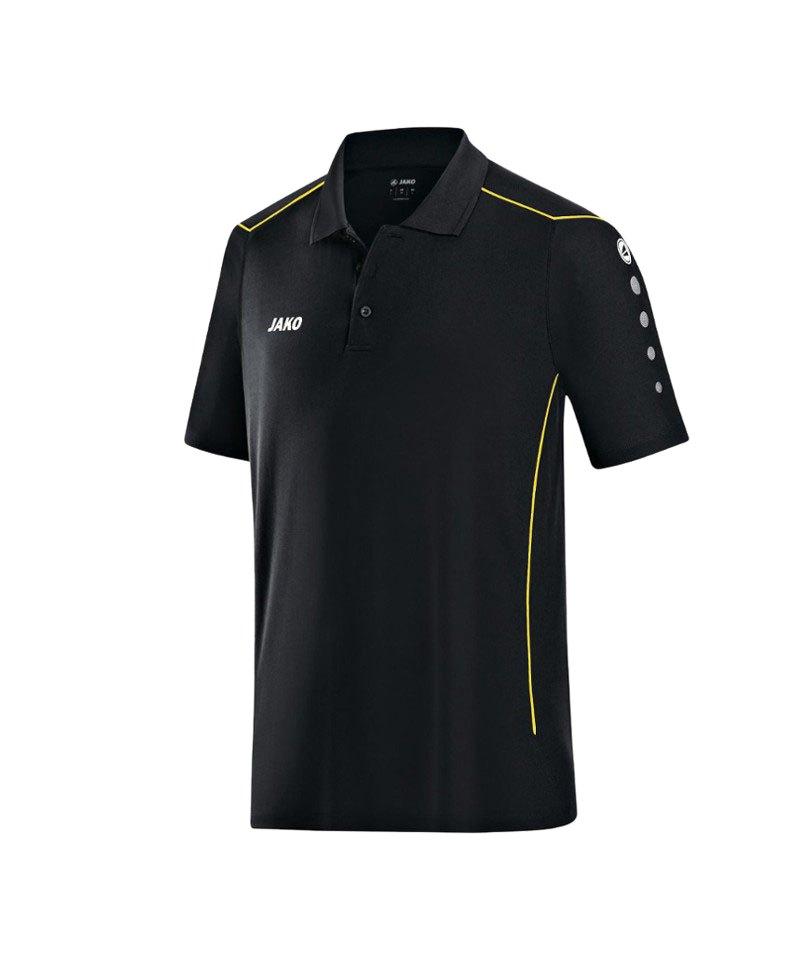 Jako Poloshirt Cup F03 Schwarz Gelb - schwarz