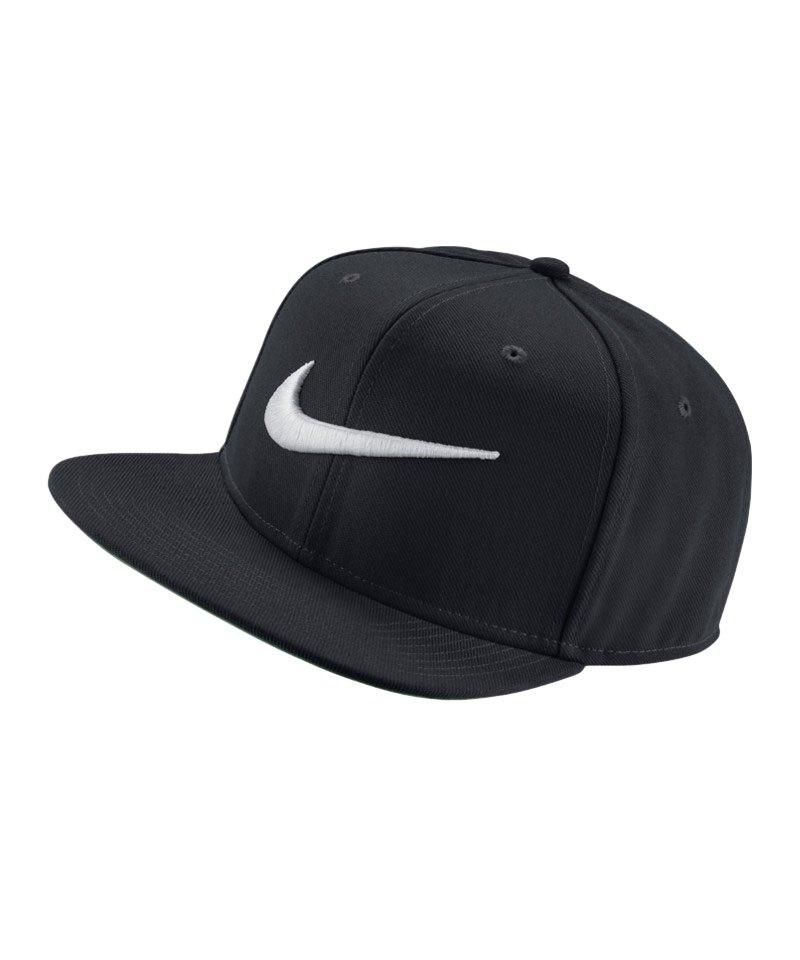 Nike Swoosh Pro Basecap Kappe Schwarz F011 - schwarz