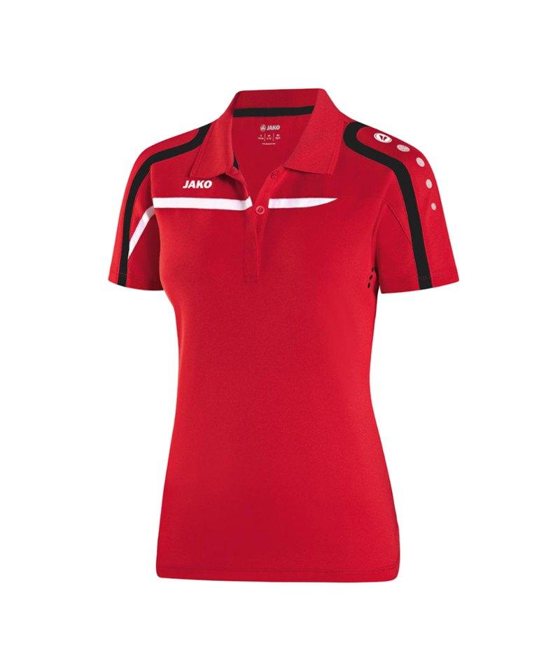 Jako Poloshirt Performance Damen F01 Rot Weiss - rot