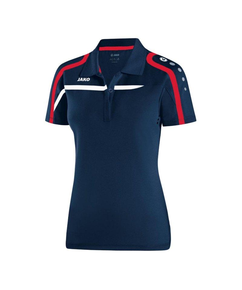 Jako Poloshirt Performance Damen F09 Blau Weiss - blau