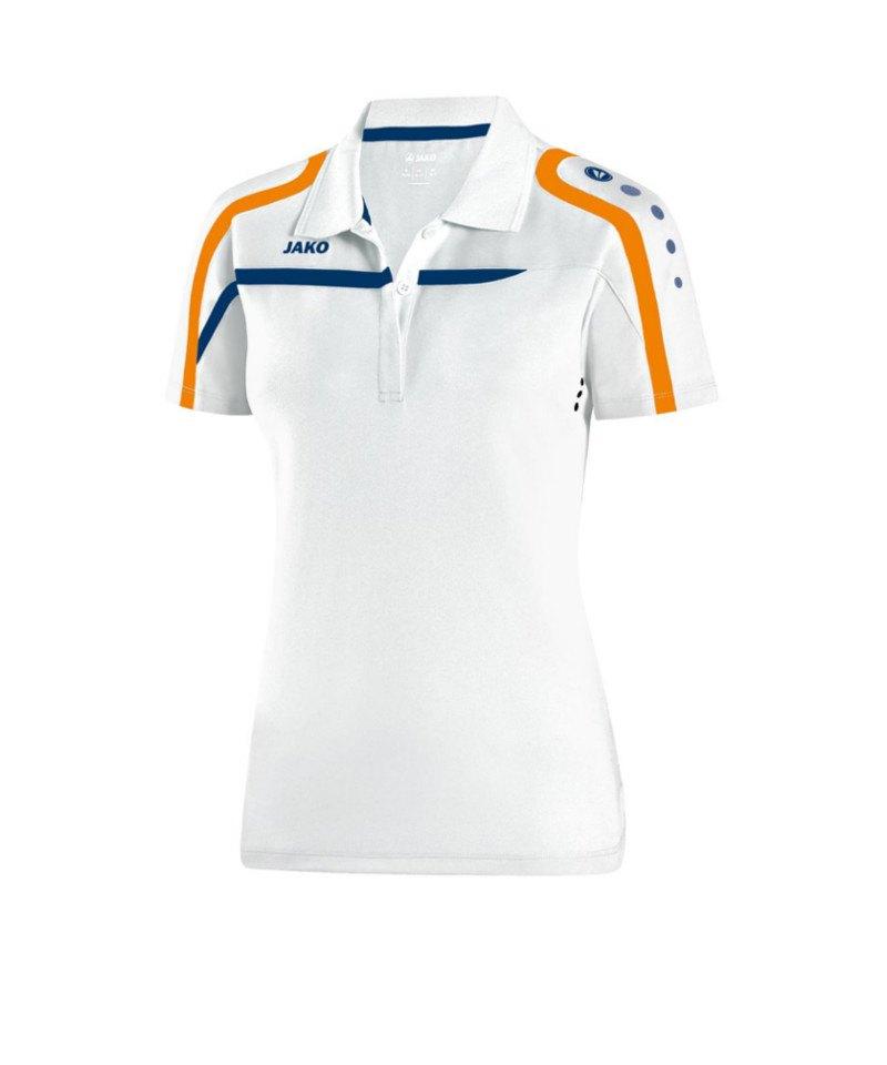 Jako Poloshirt Performance Damen F19 Weiss Blau - weiss
