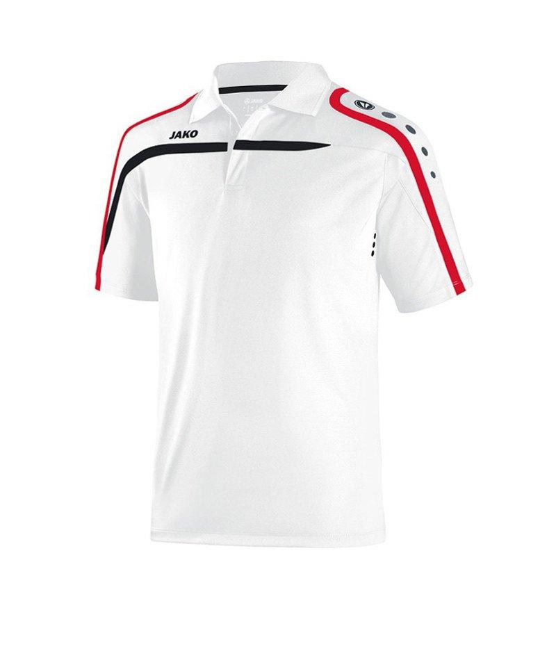 Jako Poloshirt Performance F00 Weiss Schwarz - weiss