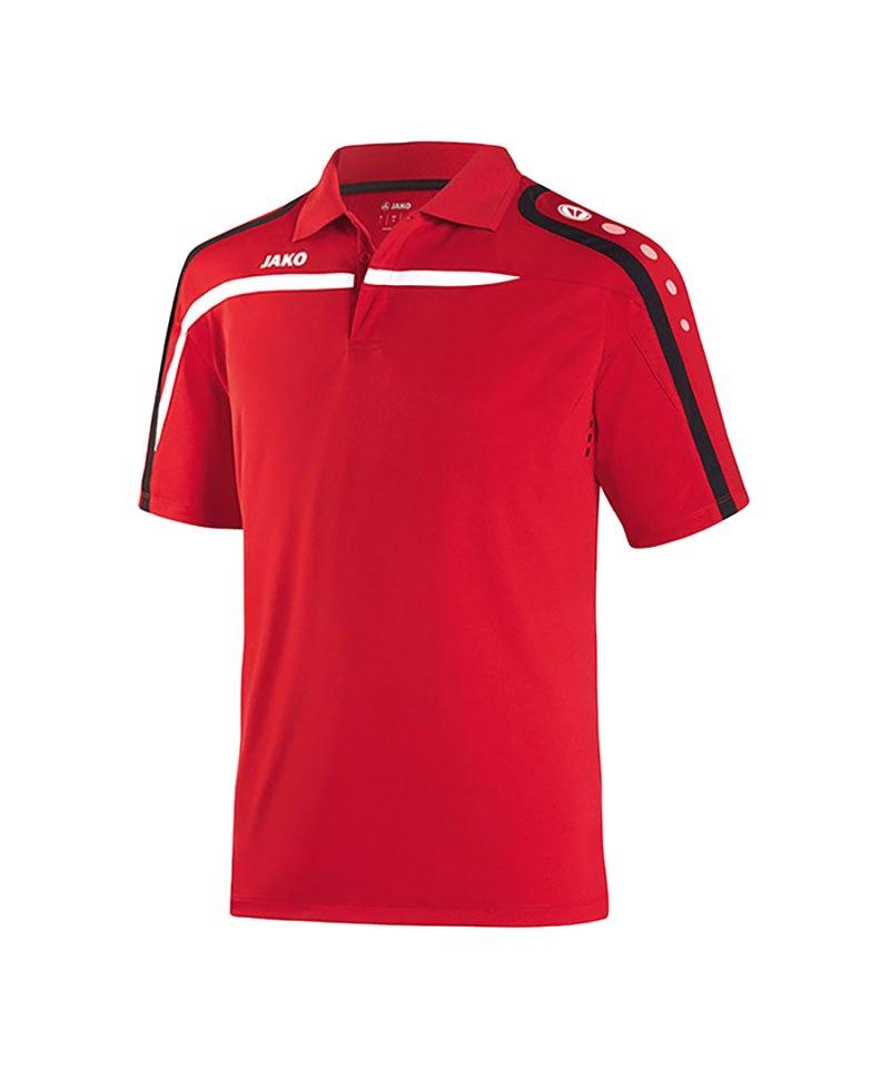 Jako Poloshirt Performance F01 Rot Weiss - rot