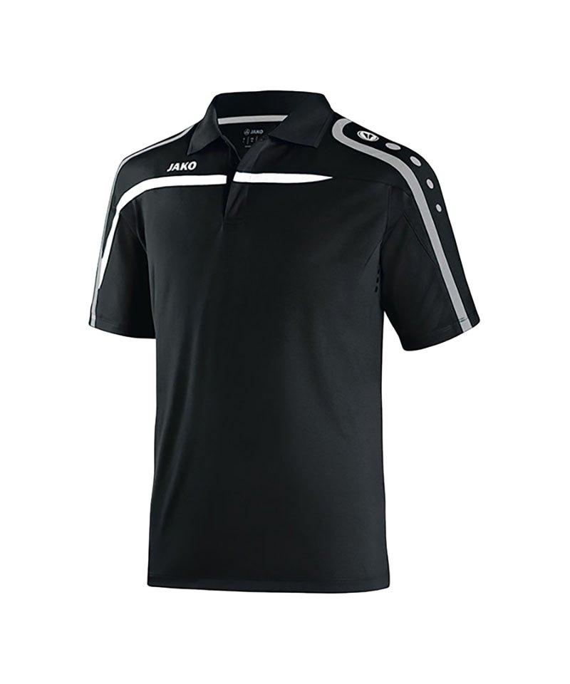 Jako Poloshirt Performance F08 Schwarz Weiss - schwarz